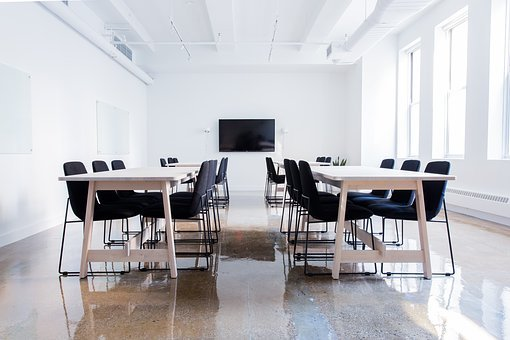 Chairs, Conference Room, Empty, Indoors, Tables
