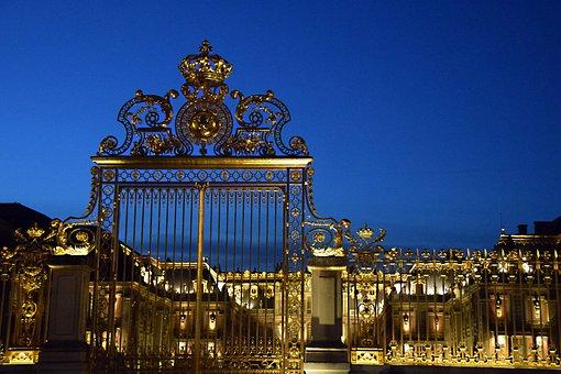 Versailles, Paris, France, Gate, Architecture, Landmark