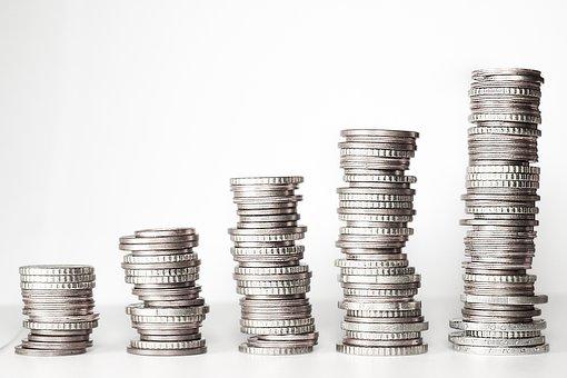 Money, Money Tower, Coins, Euro, € Coin, Specie