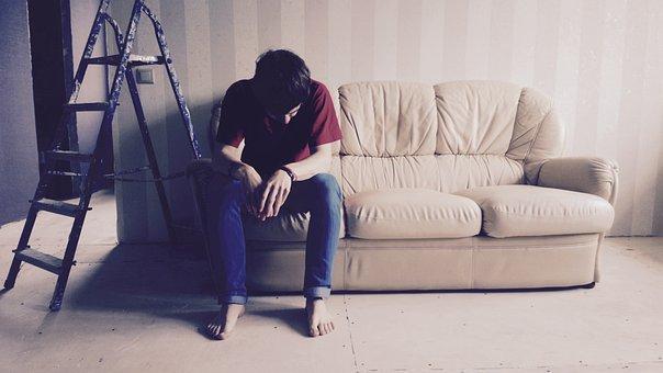 Emotions, Fatigue, People, Work, Sofa, Repair