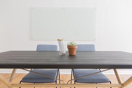 Chairs, Empty, Plant, Pot Plant, Tables