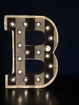 B, Letter, Shape, Typography, Modern