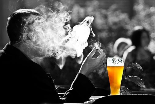 Man, Smoke, Beer, Wheat, Smoking, Benefit From