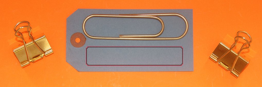 Paperclip, Supplies, Banner, Header, Web, Label, Sign
