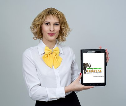 Business Woman, Business, Book, Tablet, Technology