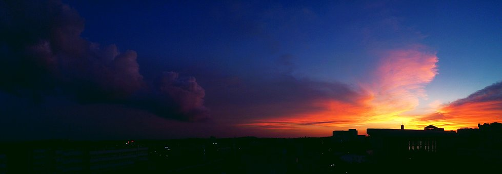 Guangdong Ocean University, Sunset, The Scenery