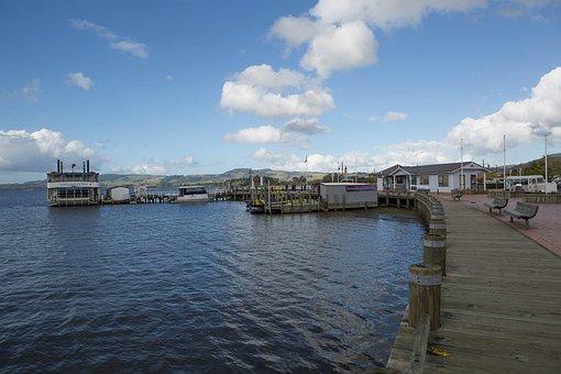 New Zealand, Tourism, Rotorua Sub, Lake, Pier