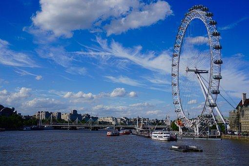 London Eye, Ferris Wheel, London, Uk