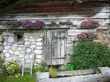 Home, Hut, Mountains, Vacation, Old, Landscape, Barn