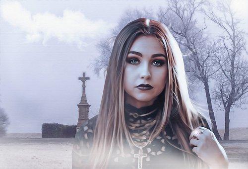 Female, Woman, Young, Beauty, Gothic, Dark, Fantasy
