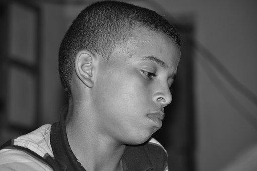 Portrait, Boy, Face, African, Sad, Unfortunate