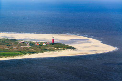 Texel, Lighthouse, Beach, Sea, Sand, North Sea, Holiday