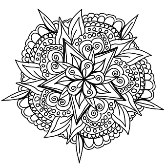 Drawing, Mandala, Design, Cool, Awesome, Coloring Page