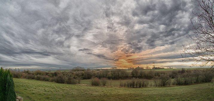 Clouds, Structure, Sky, Color, Dark Clouds, Sun, Sunset