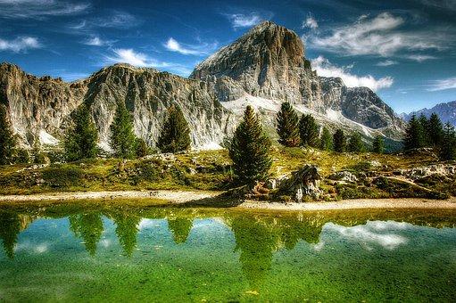 Tofane, Dolomites, Mountains, Italy, Alpine