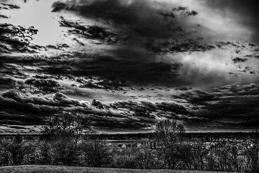 Clouds, Dramatic, Landscape, Nature, Sky, Idyllic