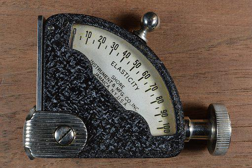 Elasticity Gauge, Old, Mechanical, Mechanism, Metal