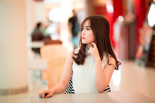 Girl, Sitting, Waiting, Model, Fashion, Young, Female