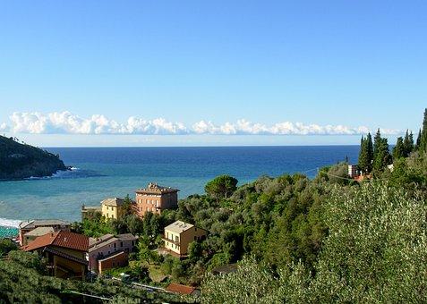Bonassola, Liguria, Italy, Sea, Summer