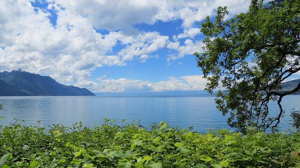 Lake Geneva, Geneva, Switzerland, Swiss, Lake, Water