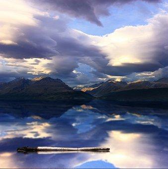 Mountains, Lake, New Zealand, View, Landscape, Nature