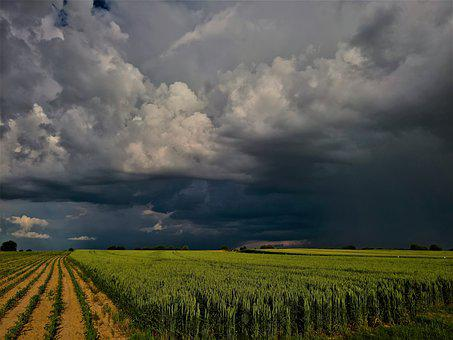 Landscape, Weather, Before Storm, Summertime