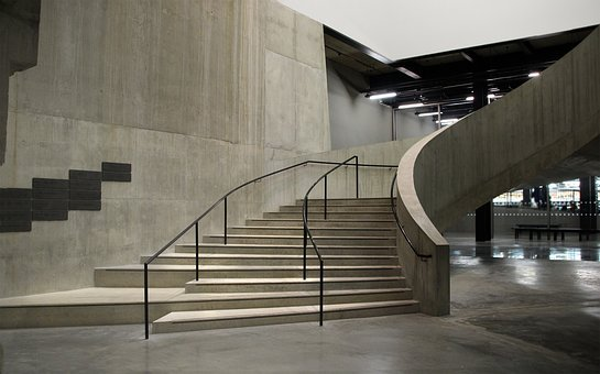 London, Tate Modern, Gallery, Stairs, Concrete