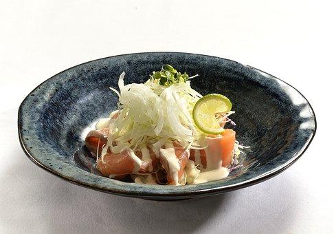 Salmon Salad, Salad, Fresh, Salmon, Lunch, Vegetable