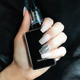 Hand, Glitter, Nails, Nail Polish, Polish, Vapor