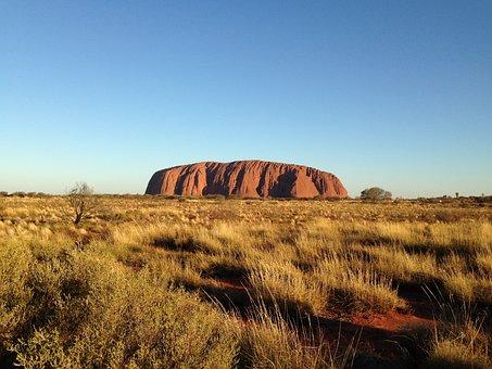 Australia, Rock, Landscape, Nature, Desert, Sunset