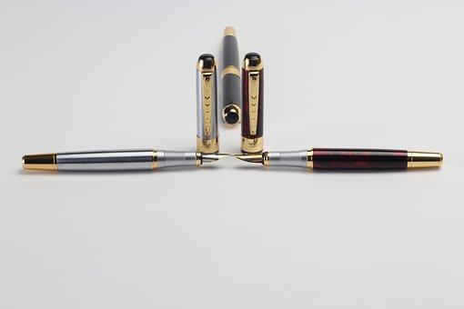 Pens, Office, Many, Ballpoint, Fountain, Ink
