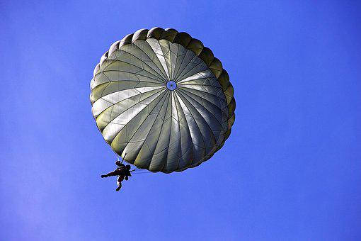 Parachutist, Parachute, Soldiers, Skydiving, Fly, Sky