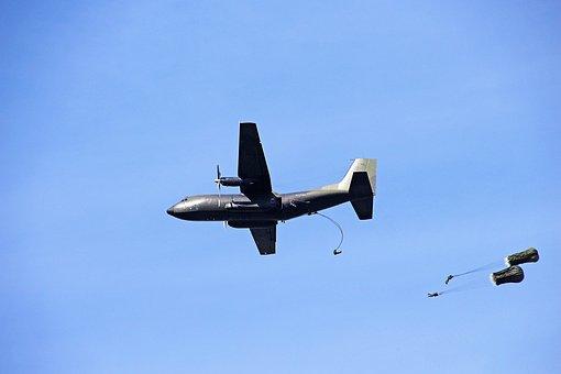 Parachutist, Parachutes, Skydiving, Sky, Float, Blue