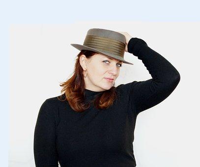 In Hat, Portrait Of A Girl, Girl, Photoshoot, Beauty