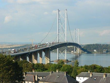 Bridge, Forth, Road, Scotland, Queensferry, River