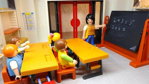 Playmobil, School, Children, Teacher, Classroom