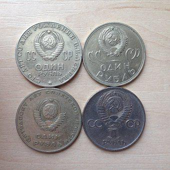 Coins, The Ussr, Ruble, Money, Russia, Silver, Kopek