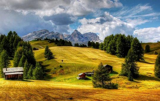 Dolomites, Sella, Mountains, Alpine, South Tyrol, Italy
