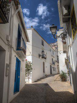 Spain, Altea, Summer, Sun, Holiday, Sky, Heat, Homes