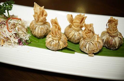 Dumpling, Spring Rolls, Deep Fried, Dim, Asian, Spring