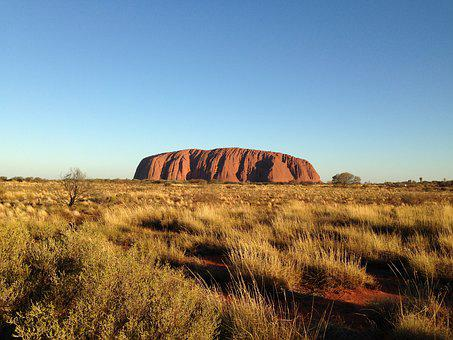 Australia, Rock, Landscape, Nature, Desert, Sunset