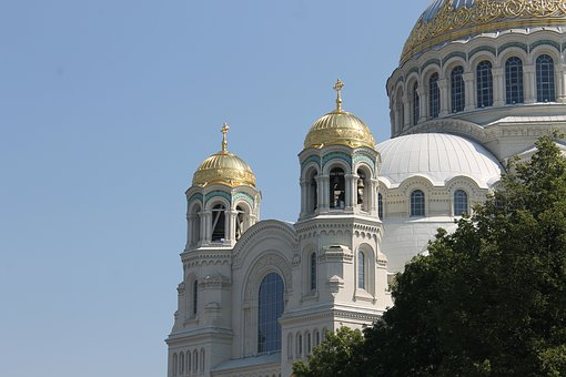 Building, Naval Cathedral, Cathedral, Kronstadt, Travel