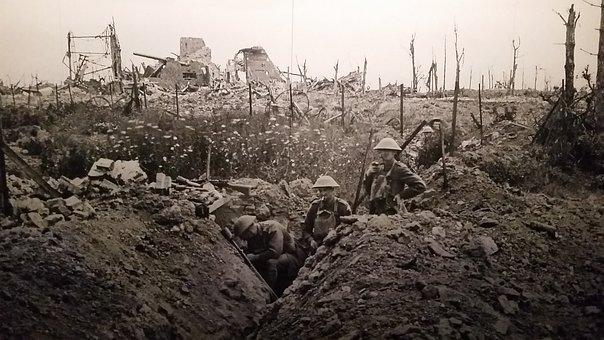 Ww1, Trench, Warfare, One, War, World, Great, Military