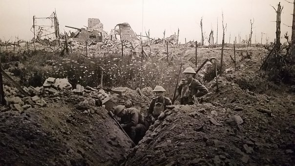Ww1, Trench, Warfare, One, War, World, Great, Military