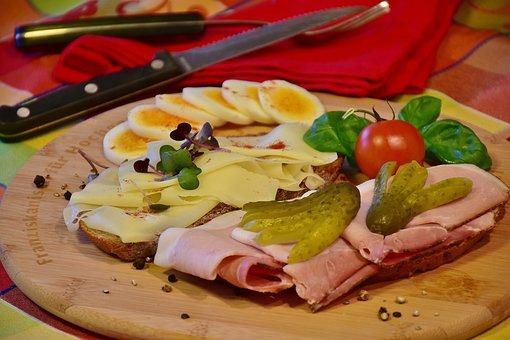 Snack, Cheese, Ham, Wreak, Enjoy, Tasty, Tomato, Pickle