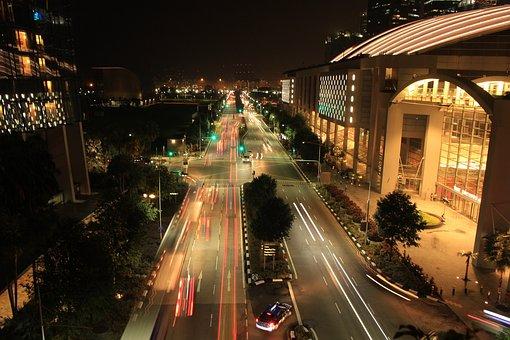 Night, Traffic, Canon, Shutter, Architecture, Blurred