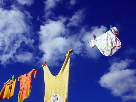 Clothes Line, Wash Clothes, Laundry, Dry, Air Dry, Baby