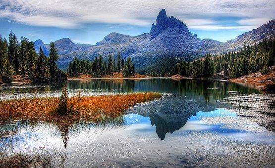 Dolomites, Lago Federa, Belluno, Mountains, Nature