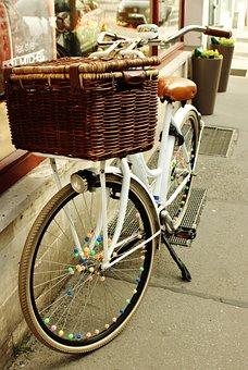 Bike, Bicycle, City, Cycle, Spring, Leisure, Basket