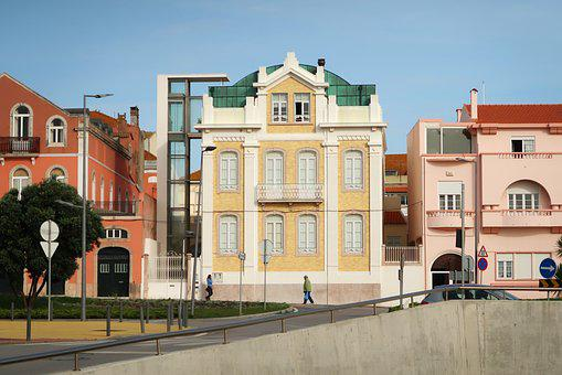 Building, Portugal, City, Costa Da Caparica
